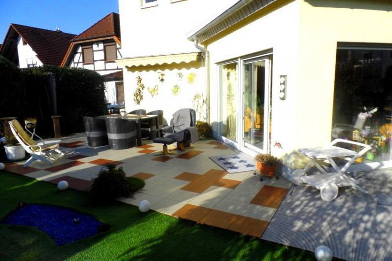 2-farbige Terrasse mit ELITE Terrassenfliesen